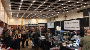 umae, makeup trade show, wig making corner