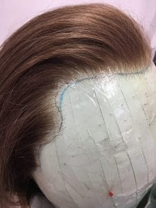 lace front wig, wig, wig hairline, ventilating