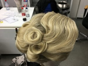 blonde, root shading, wig, theatre wig