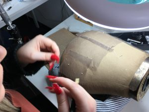 whipping seams for wig making, sewing your custom wig capsewing basics in wig making, wig making UK